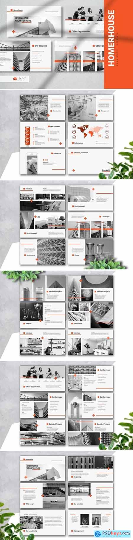 HOMERHOUSE - Architecture Powerpoint, Keynote and Google Slides Templates