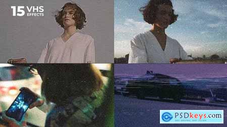 Videohive 15 VHS Video Effects 23689716