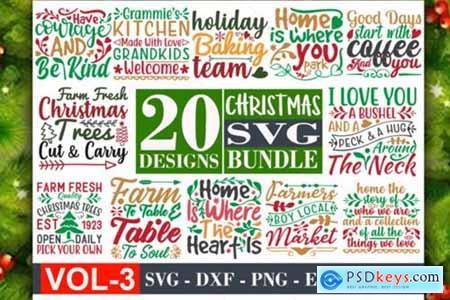 Christmas Svg Bundle Vol-03 » Free Download Photoshop Vector