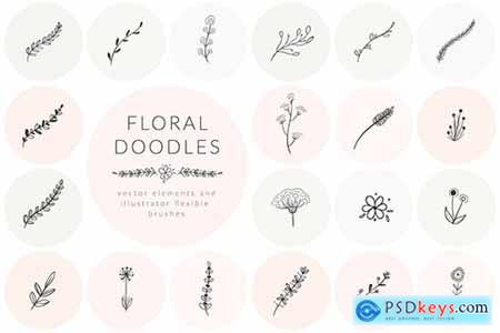 Hand Drawn Floral Doodles