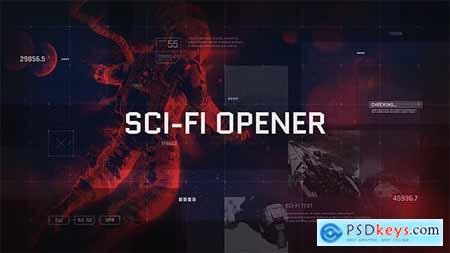 VideoHive Sci-Fi Opener Hi-Tech Slideshow Futuristic Film Credits HUD Elements Space Science 20633225