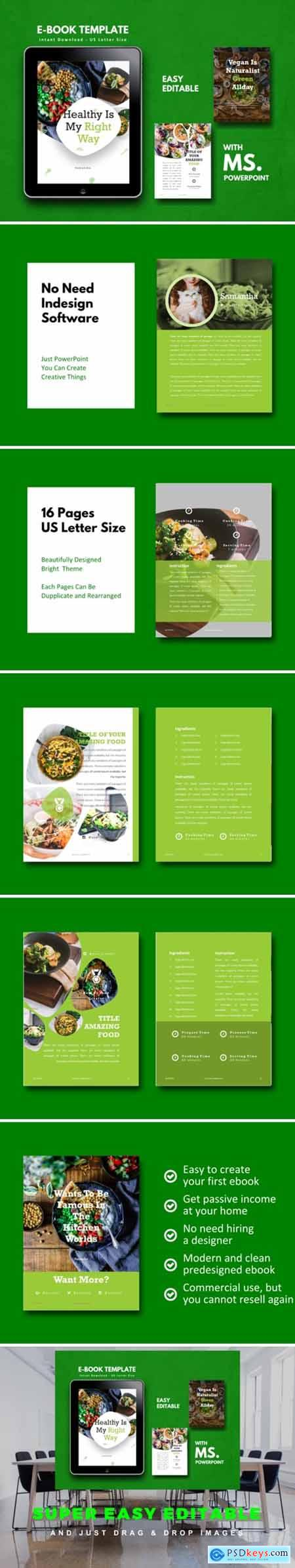 Vegan Recipe EBook Template PowerPoint 1717366
