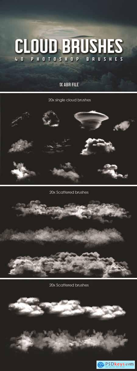 40 Cloud Brushes for Photoshop 1717811