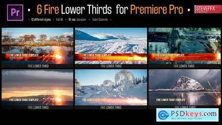 Videohive Fire Lower Thirds 24286230