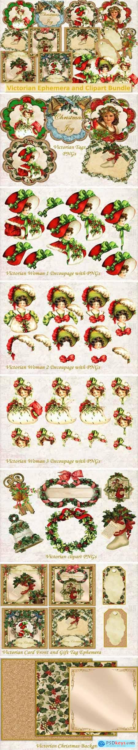 Vintage Victorian Ephemera and Clipart 1717214