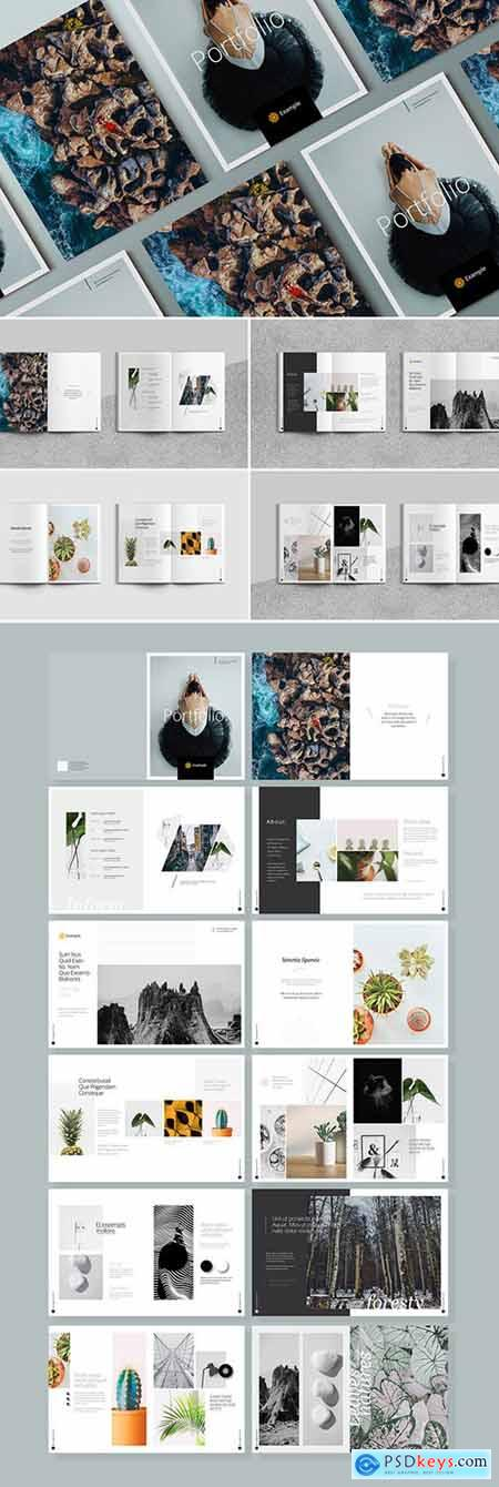 Photography Portfolio Layout with Gray Elements 252290056