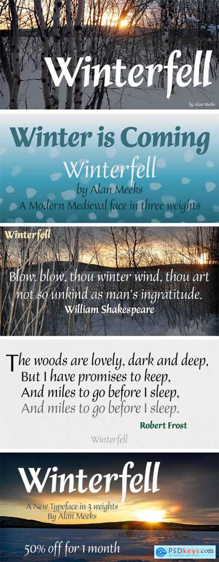 Winterfell Font Family