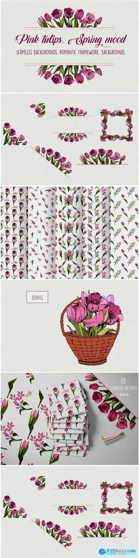 Pink Tulips Spring Mood 1717335
