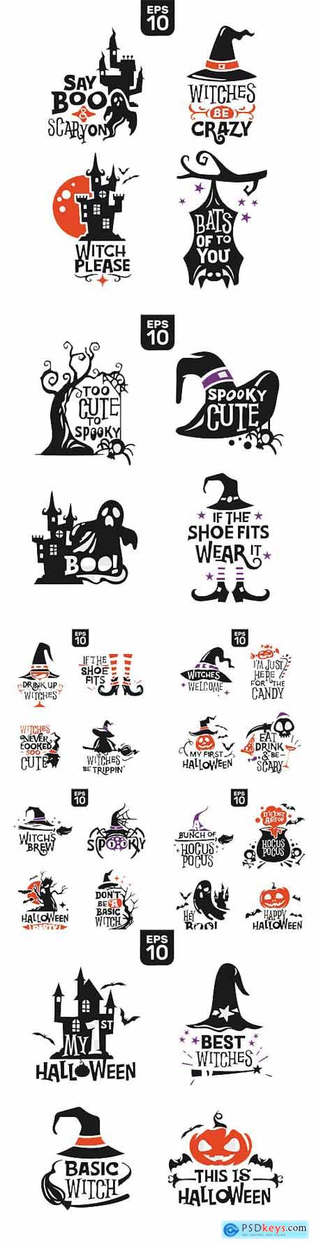 Set of Halloween Silhouettes