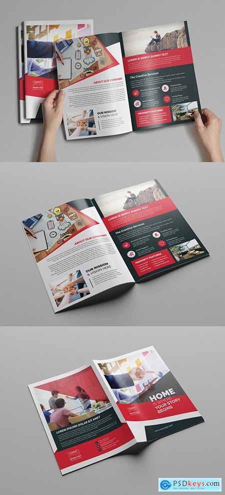 Red and White Business Brochure Layout 248205346
