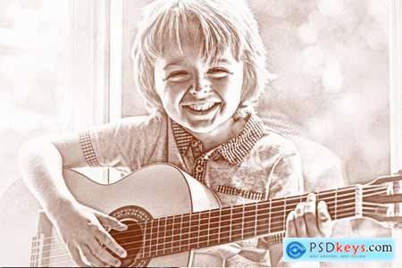 Pencil Sketch Photoshop Actions 3948303