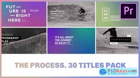 Videohive The Process Titles Pack for Premiere Pro 22108857