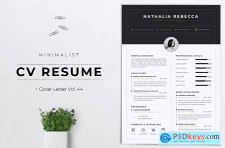 Minimalist CV Resume Vol. 44