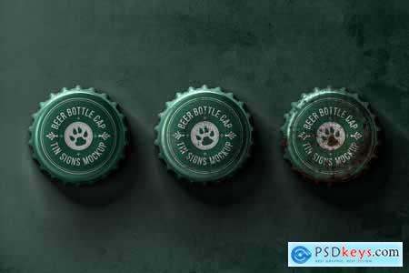 Bottle Cap Metal Tin Signs Mockup 320403