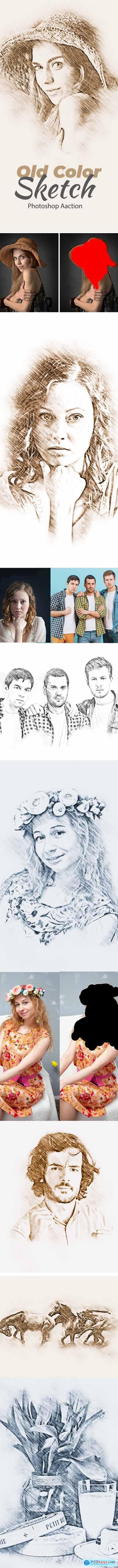 Old Color Sketch Photoshop Action 24277092