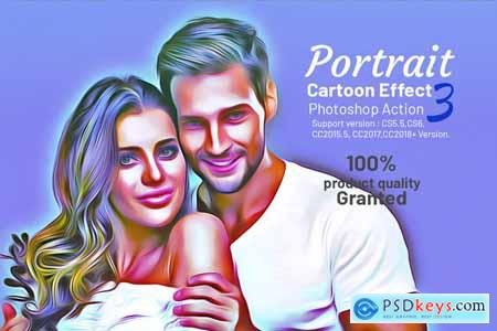 Portrait Cartoon Effect Action 3958856 » Free Download