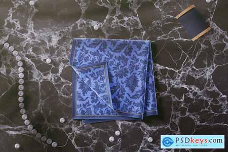 Silk Square Handkerchief Mockup 01 3738916