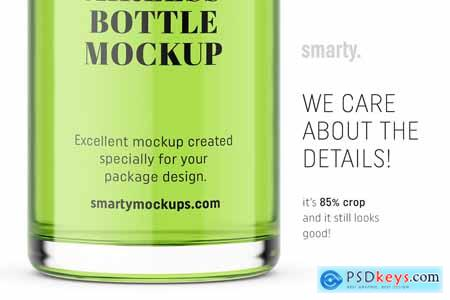 Transparent airless bottle mockup 3362283