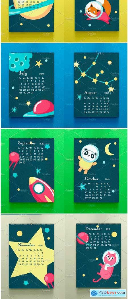 Space Calendar Animal Austronauts 3271582