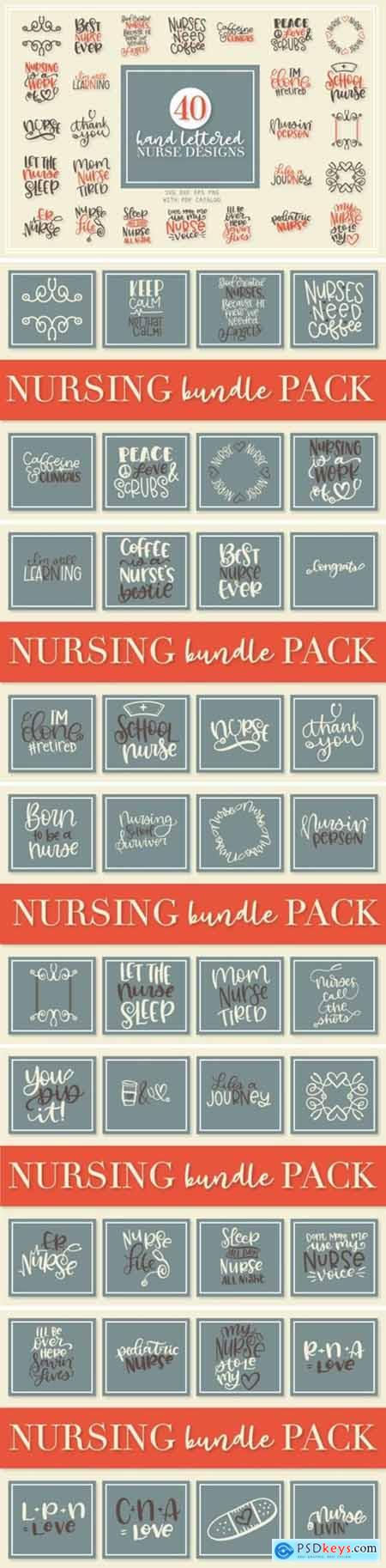Nurse Bundle - Hand Lettered Designs 1730521