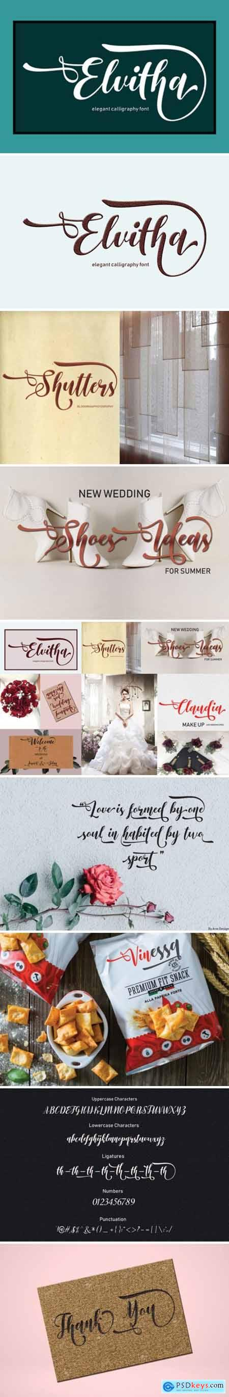 Elvitha Font » Free Download Photoshop Vector Stock image