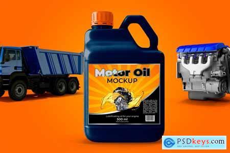Bottle Motor Oil Mockup 3748950