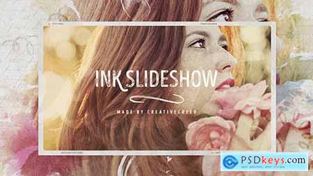 Videohive Ink Slideshow Romantic Memories Wedding Photo Album Vintage Opener