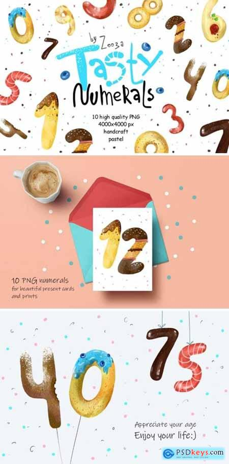 Tasty Numerals - 10 Illustrations 1729481