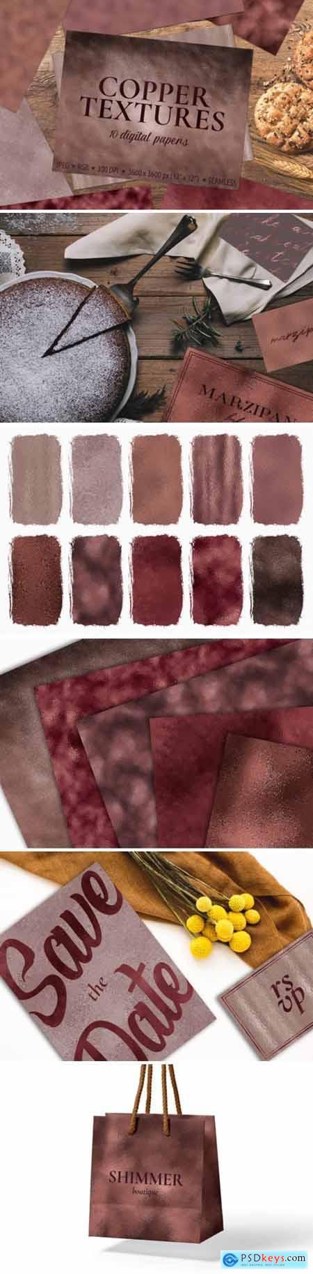 Copper Foil Textures 10 Digital Papers 1730090