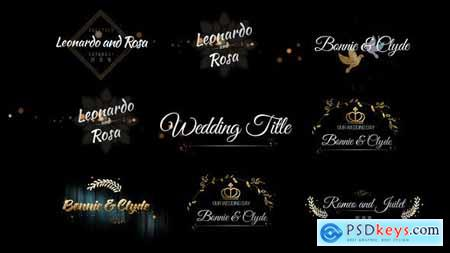Videohive Six Beautiful Wedding Title 24464075