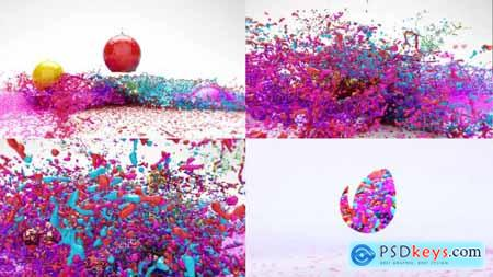 Videohive Paint Splash Logo Reveal 19345680