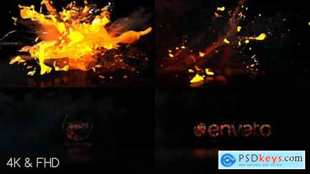 Videohive Fire Water Logo 22356177