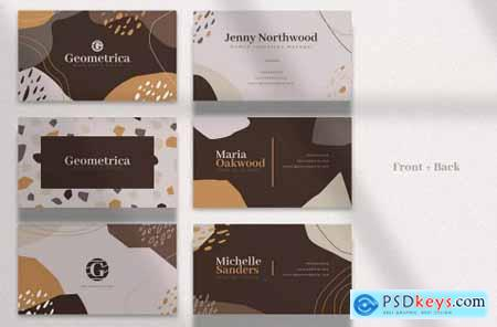 6 Abstract Business Card Templates