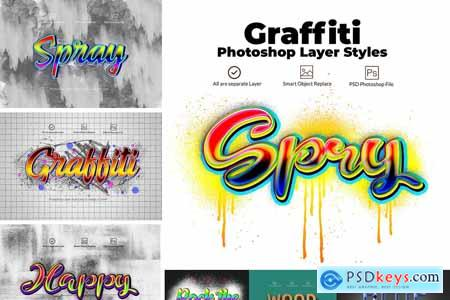 Graffiti Layer Styles 4006263