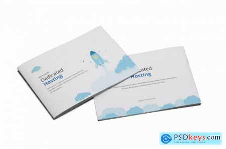 Hosting A5 Brochure Template
