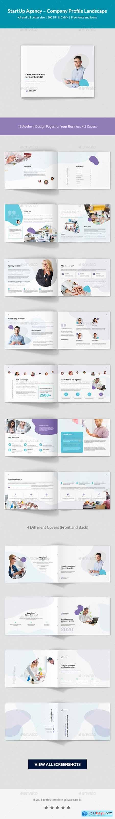 StartUp Agency – Company Profile Landscape 24477681