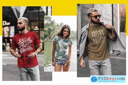 T-Shirt Mock-Up Urban Style vol.2 3188333