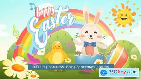 Videohive Easter Bunny and Chicken Dance Greeting 23640952