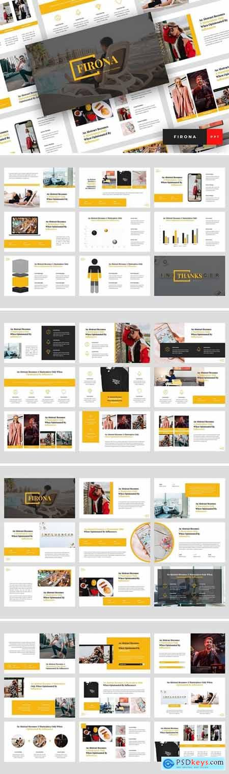 Firona - Influencer Powerpoint, Keynote and Google Slides Templates