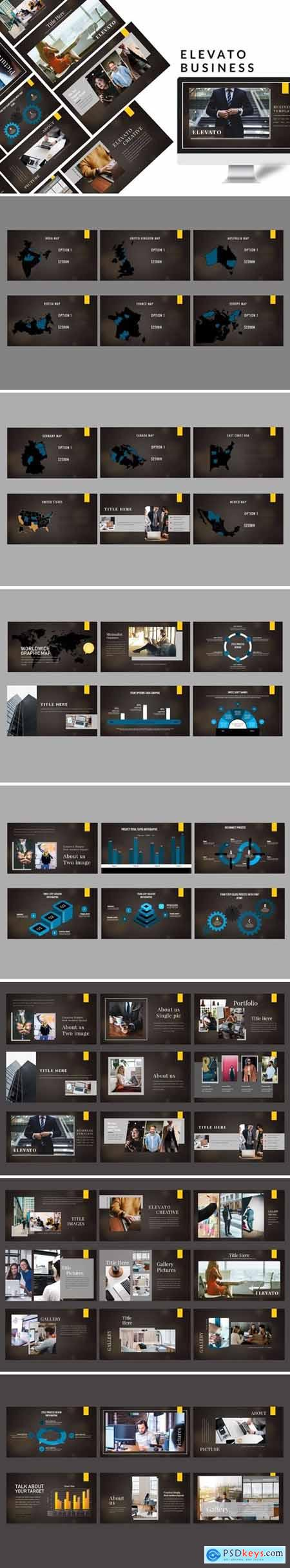 Elevato Dark - Business Powerpoint, Keynote and Google Slides Templates