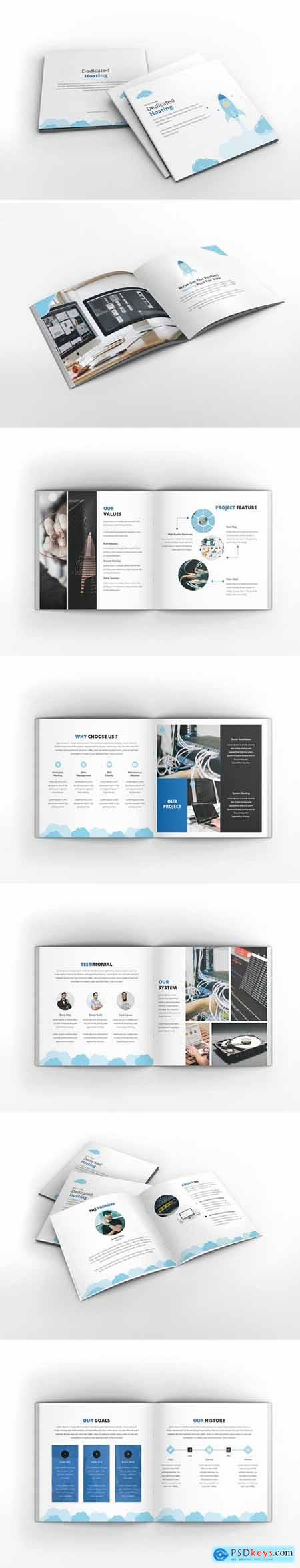 Hosting Square Brochure Template
