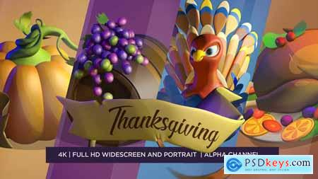 Videohive Happy Thanksgiving 3D 22873908