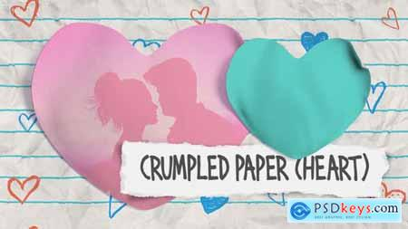 Videohive Crumpled Paper (Heart) 23307228