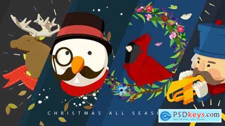 Videohive Christmas All Seasons Video Greeting 20840759