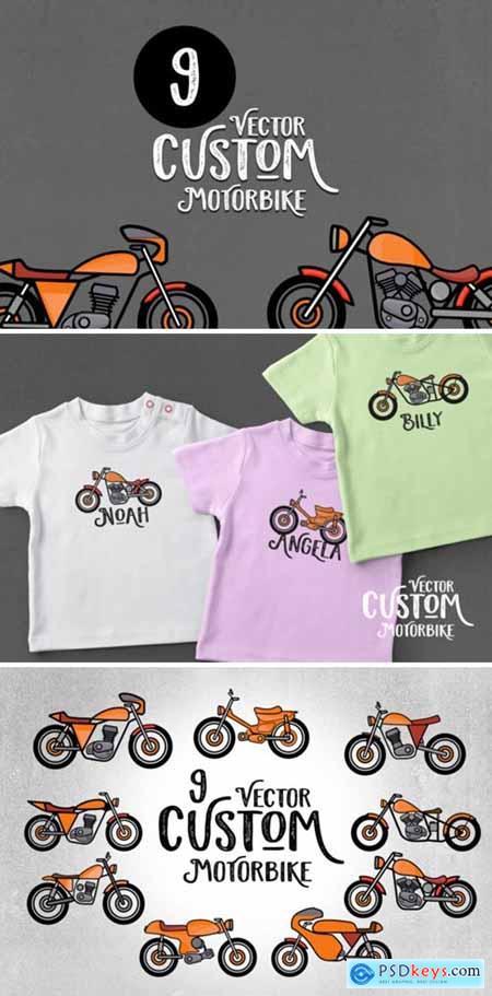 9 Custom Motorbike Vector 1738599