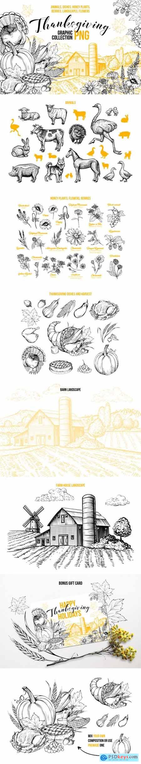 Thanksgiving Graphics Collection 1738200