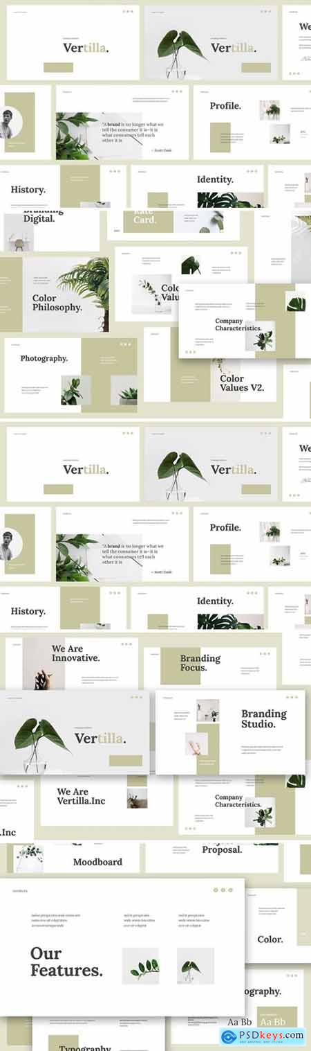 Vertilla - Brand Guideline Powerpoint, Keynote and Google Slides Templates