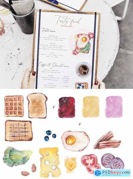 Food Watercolor Creator Kit 1738210