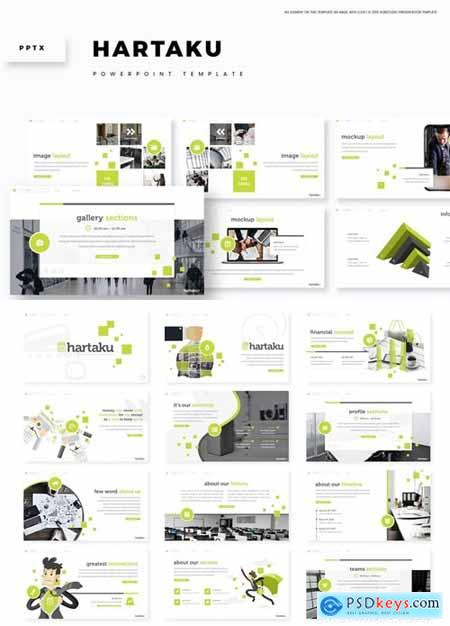 Hartaku Powerpoint, Keynote and Google Slides Templates