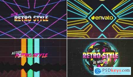Videohive 80's Retro Logo Reveal Kit 17961549